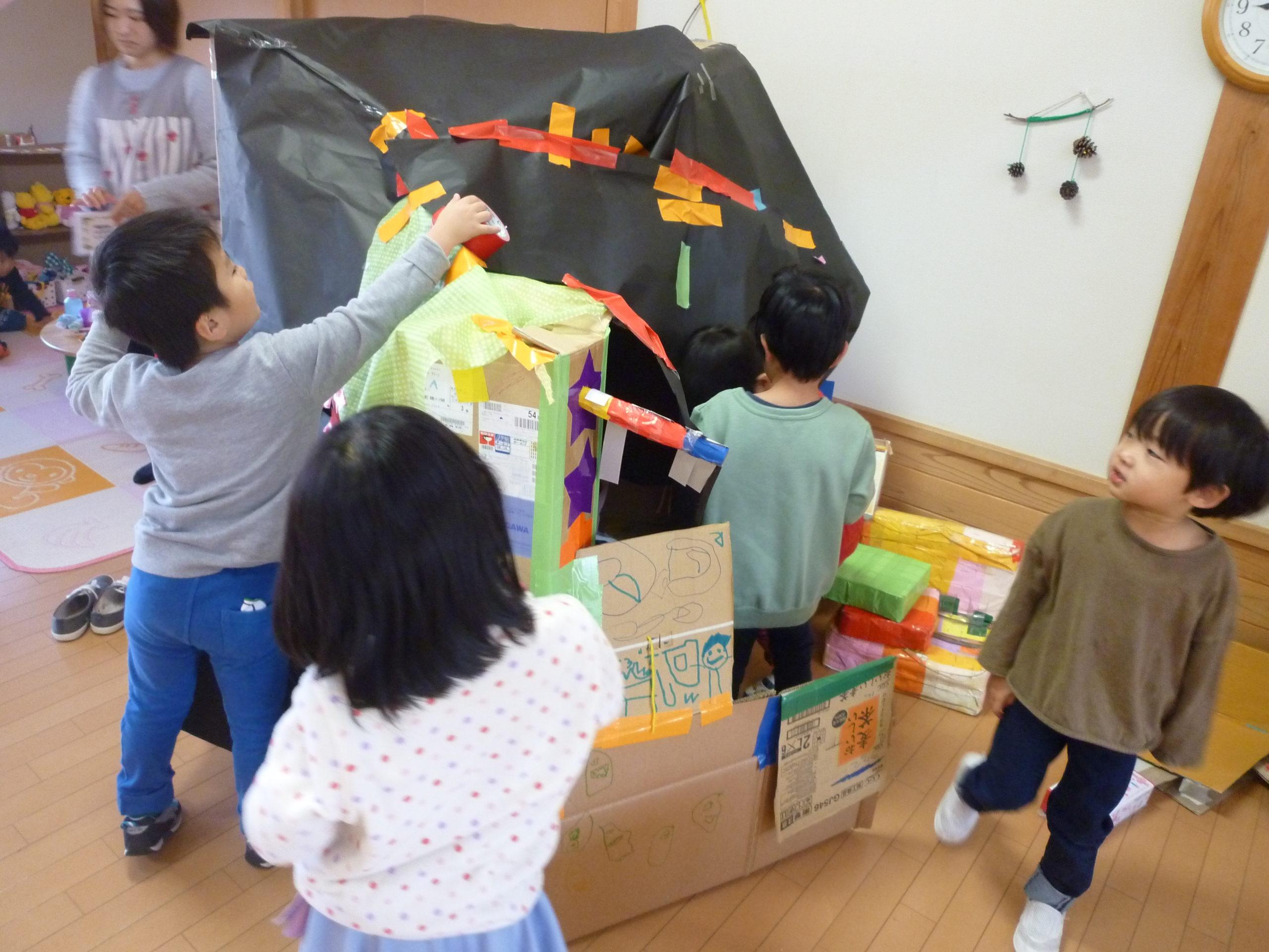 【新穂トキっ子保育園】つき組 お化け屋敷へようこそ!