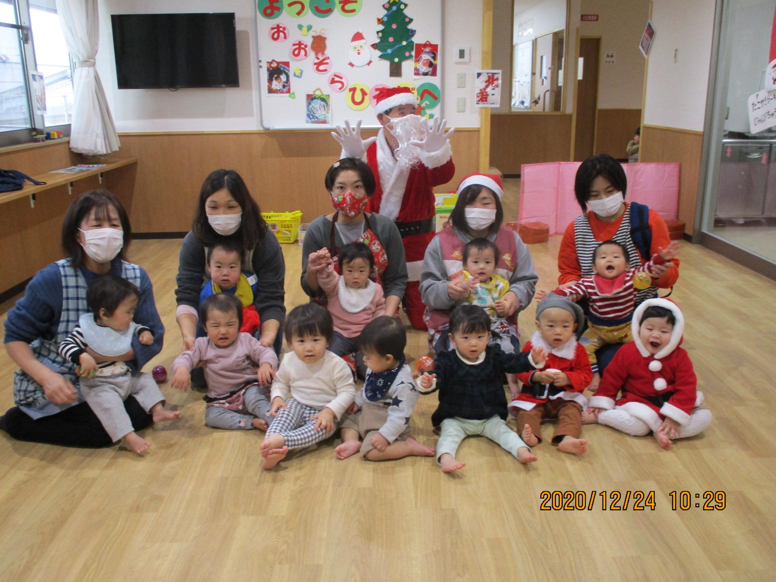 楽しいクリスマス会 めばえぐみ【白根おおぞら保育園】
