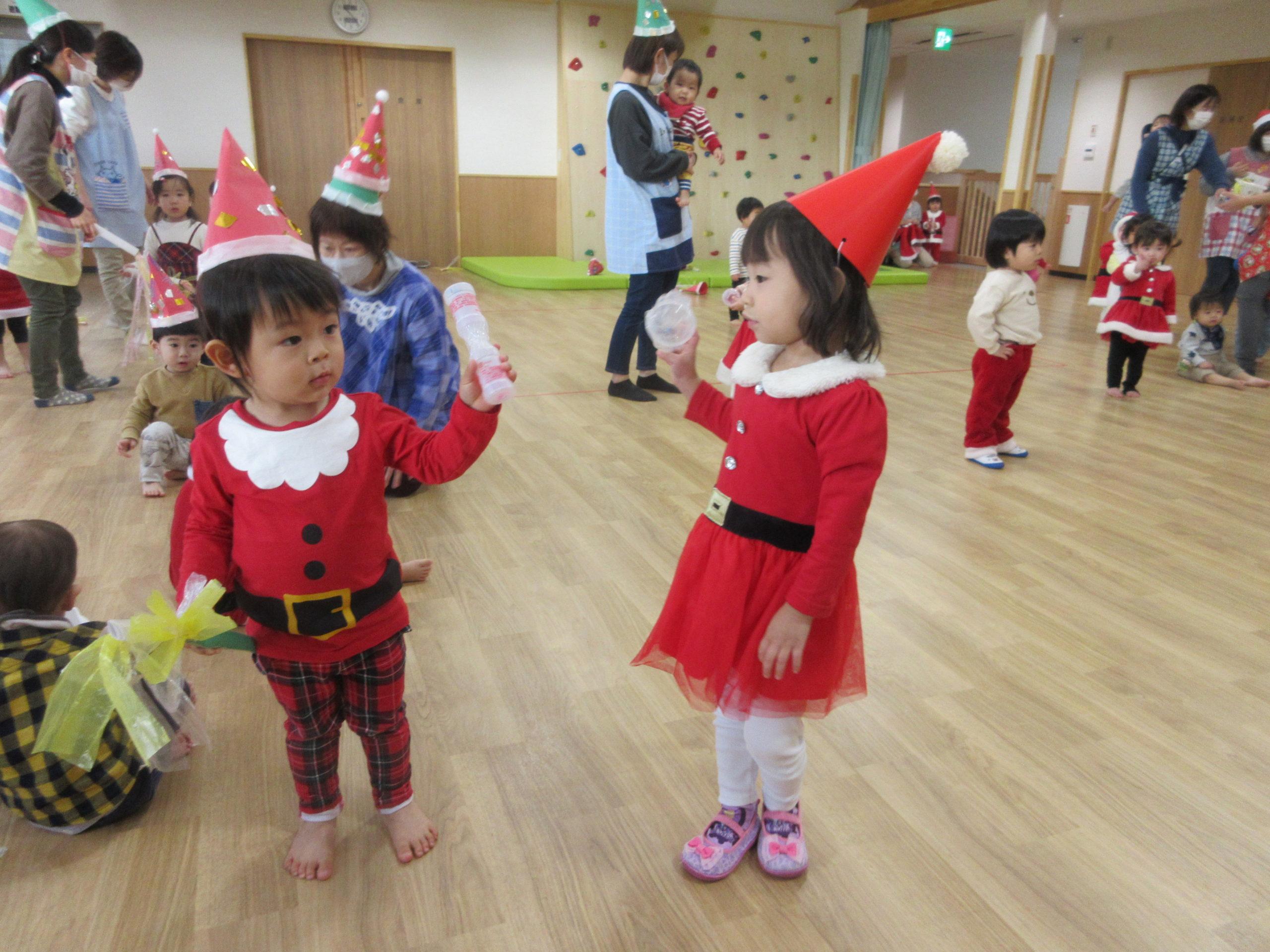 楽しいクリスマス会🎄【白根おおぞら保育園 1歳児つぼみ組】