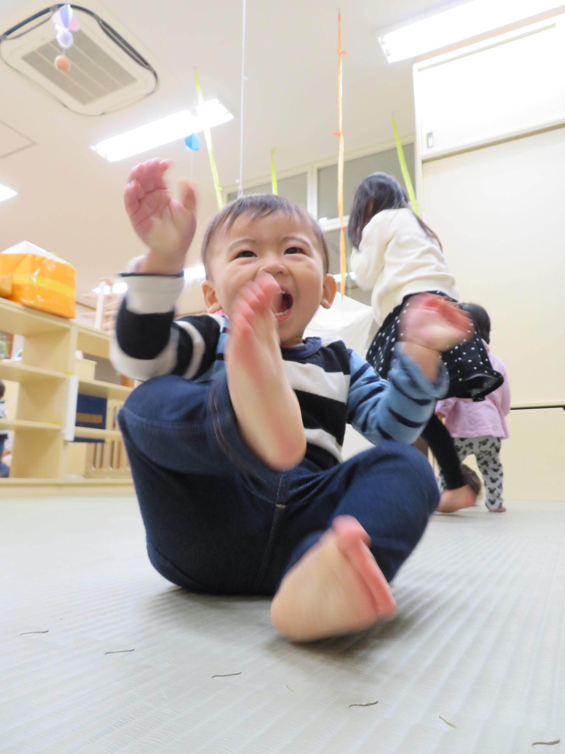 😊遊コスモス小新保育園 「0歳児 遊び🎪✨」