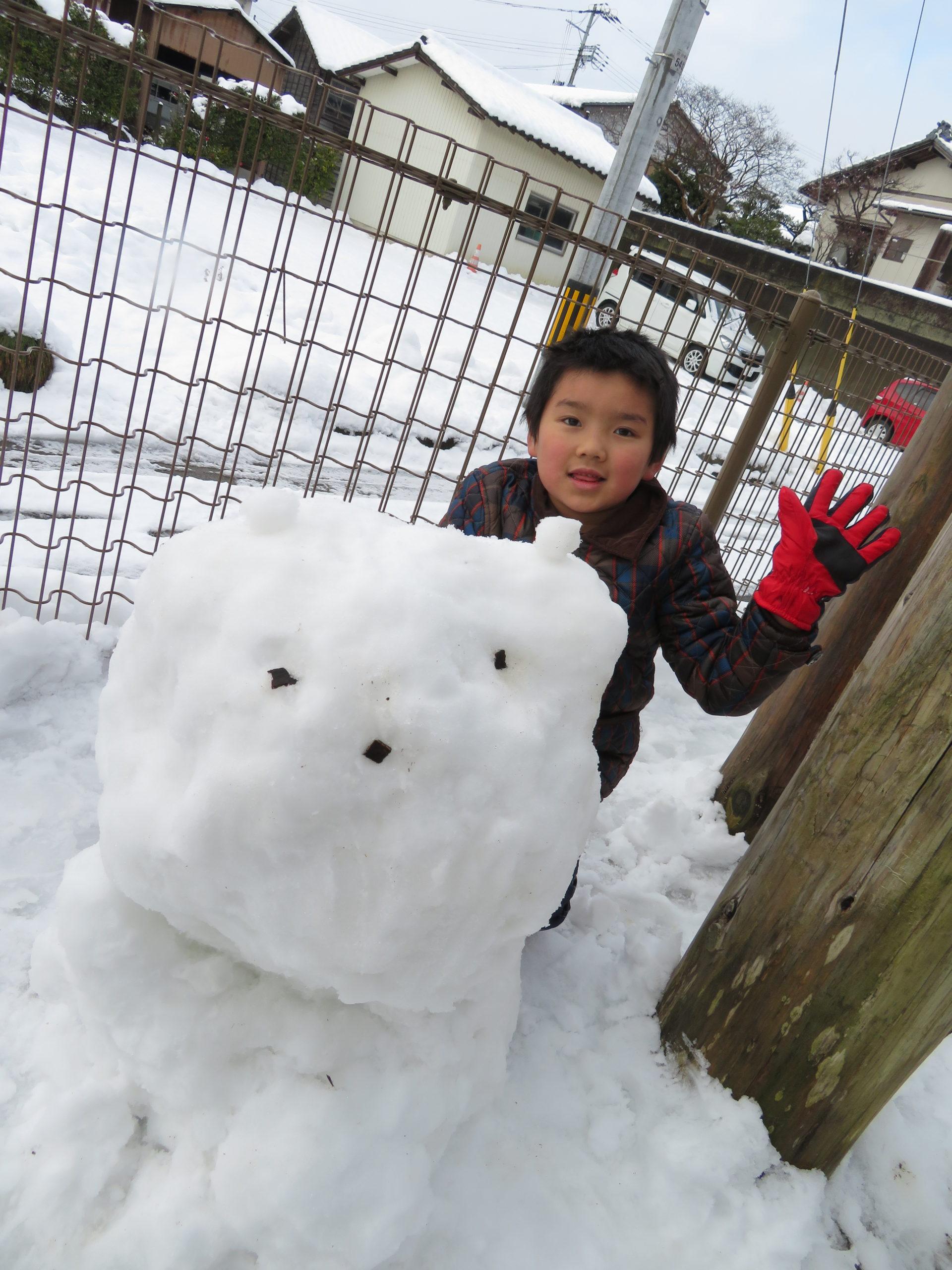 😊遊コスモス小新保育園 「⛄5歳児 Snow Play❄」