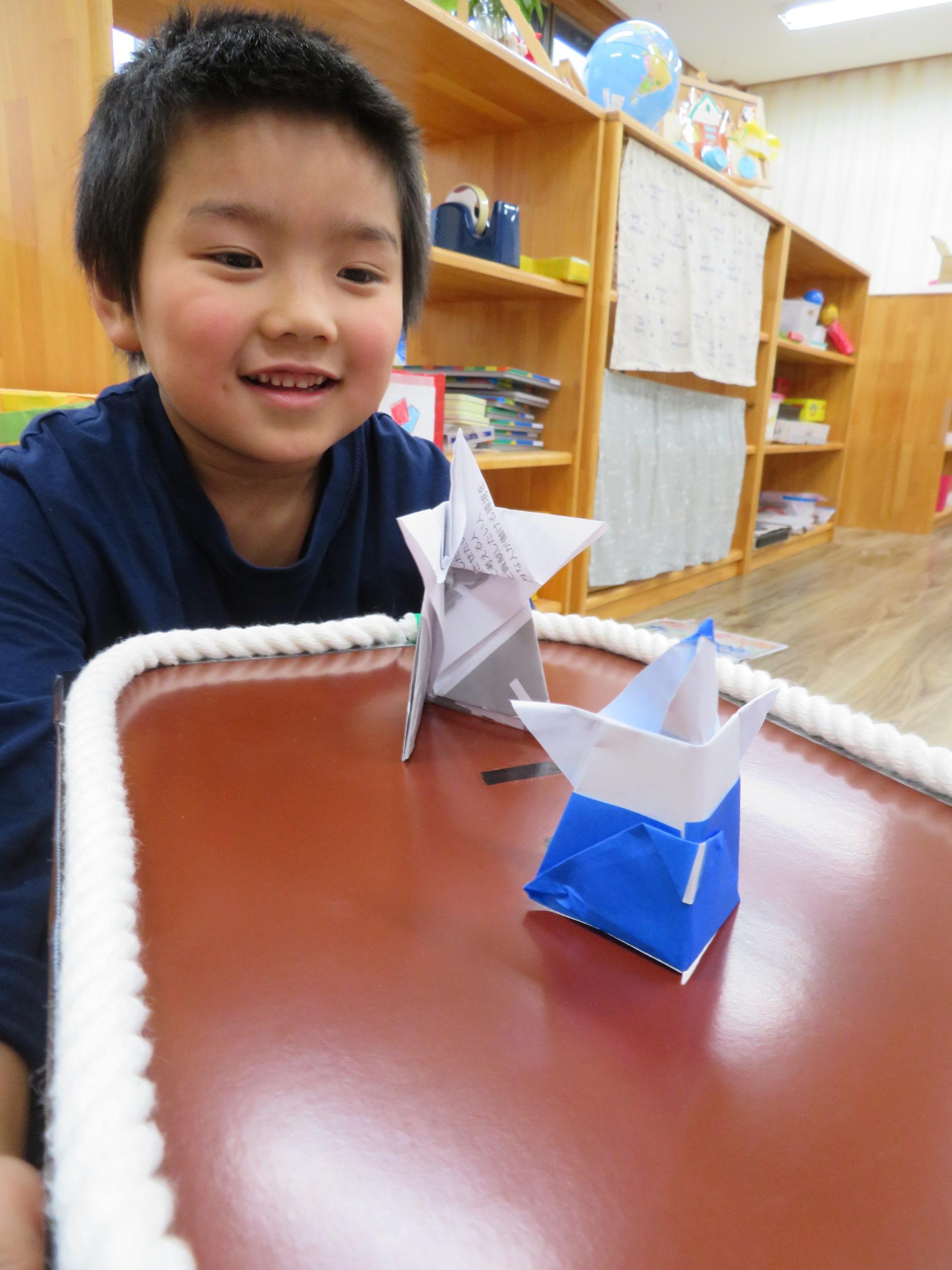 😊遊コスモス小新保育園 「5歳児 ✋紙相撲✋」