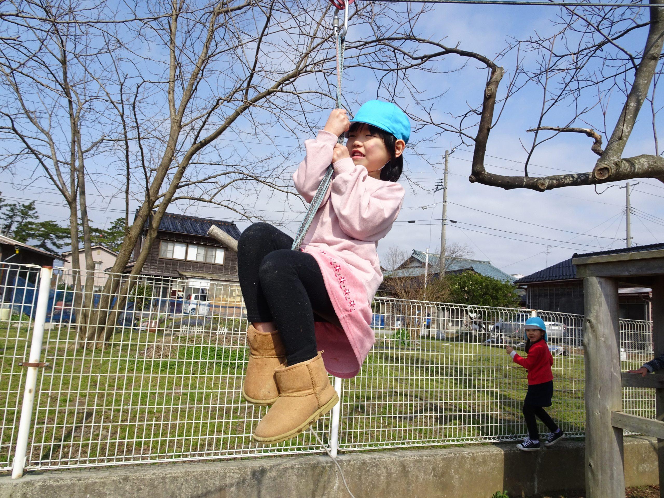 ターザンロープに挑戦!! ひまわり組【真野第1保育園】