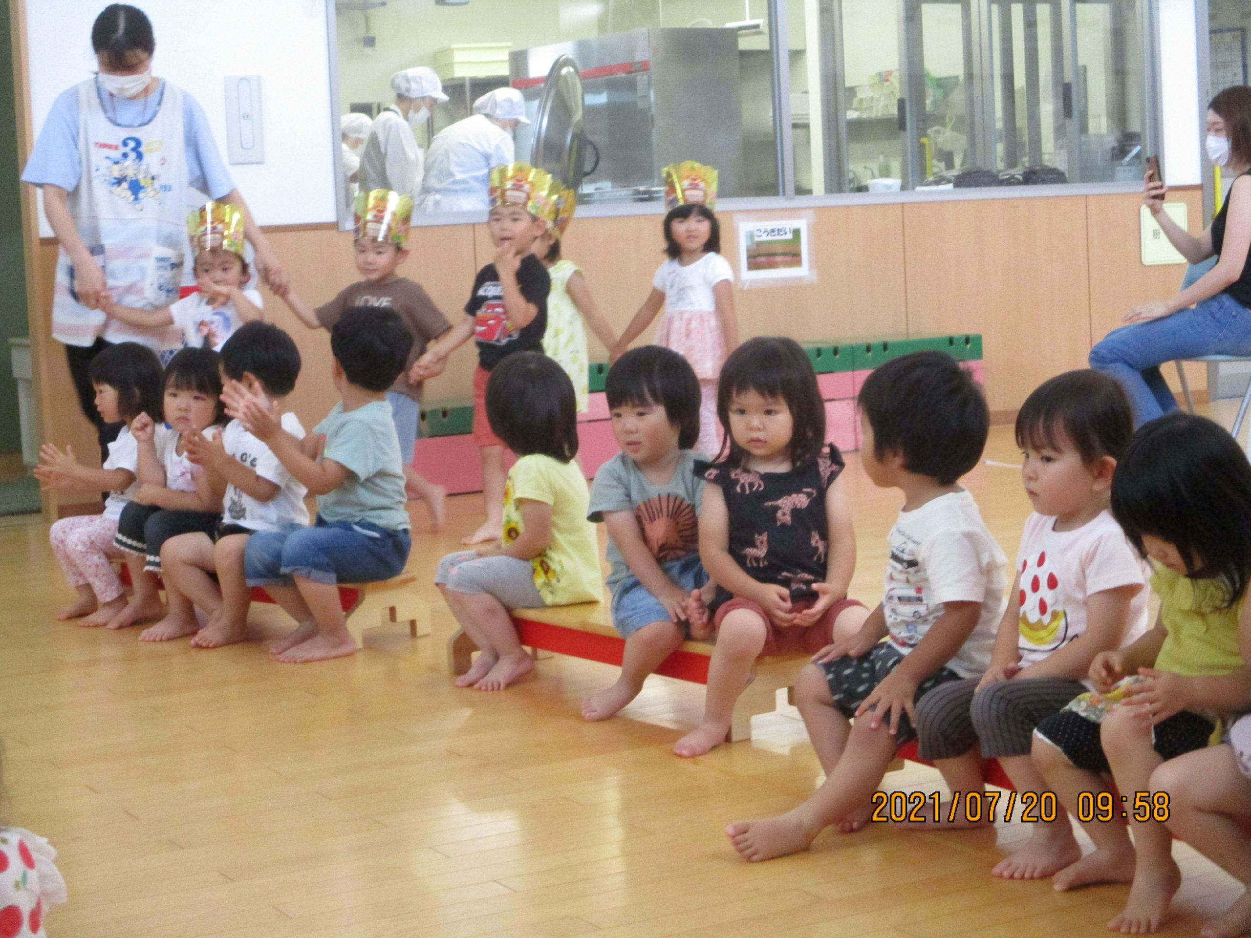 7月生まれさんの誕生会🎂 わかば組【白根そよ風保育園】