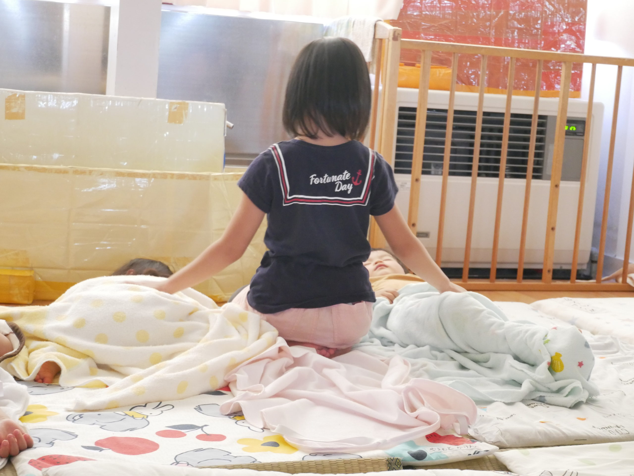 お昼寝の時間 2歳児こりす組【真野第1保育園】